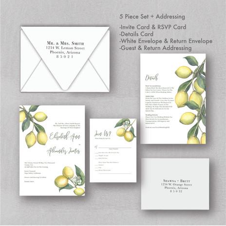 Lemon and Citrus Wedding Invitations