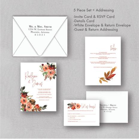 Fall Wildflower Wedding Invitations