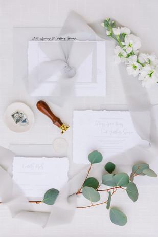 Custom Romantic Wedding Invitations