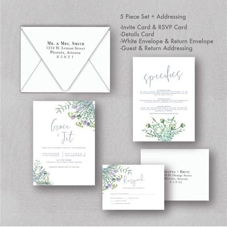 Herbs Greenery Wedding Invitations