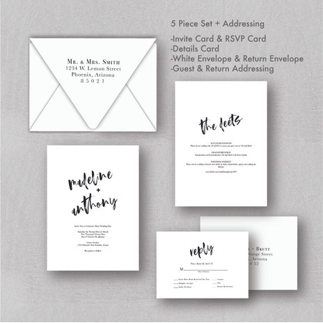 Minimalistic Wedding Invitations