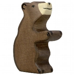 Holztiger Brown Bear, Small, Sitting