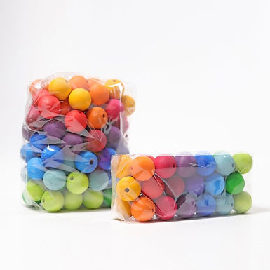 Grimms 36 Large Wooden Beads
