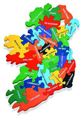 Map of Ireland (As Gaeilge)
