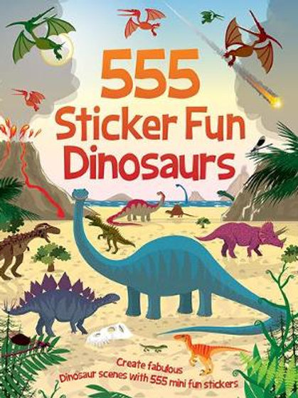 Books - 555 Sticker Fun Dinosaurs 2ed