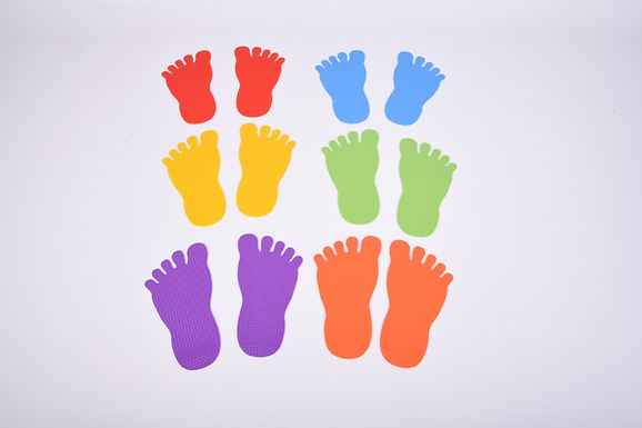 Edx Education Foot Marks Set Of 6 Pairs