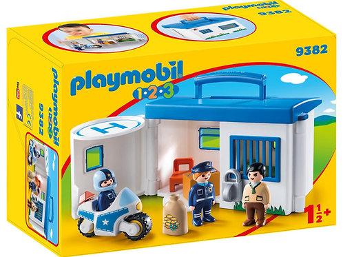 Playmobil 1.2.3 9382 Take Along Police Station
