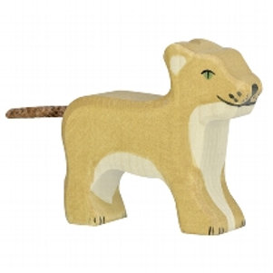 Holztiger Lion, Small, Standing