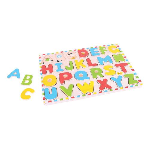 BigJigs Inset Puzzle - Uppercase Alphabet
