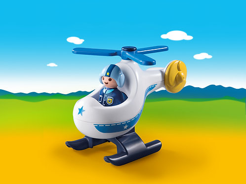 Playmobil 1.2.3 9383 Police Helicopter