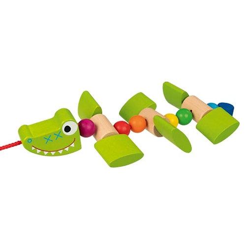 Goki Pull-Along Crocodile