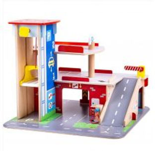 BigJigs Park & Play Garage