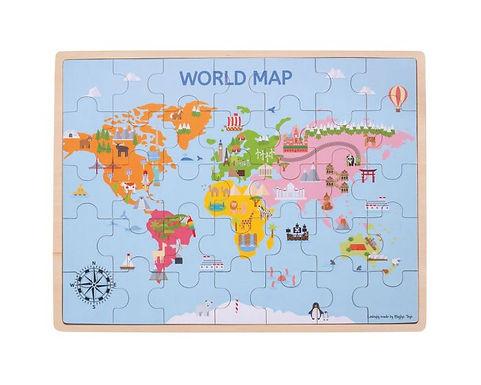 BigJigs World Map Puzzle
