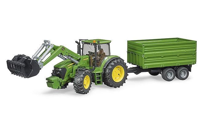 Bruder John Deere 7930 Tractor W/Frontloader & Tipping Trailer