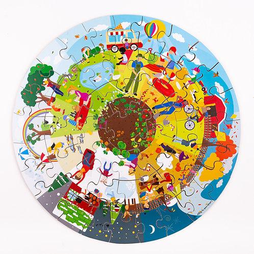 BigJigs The Four Seasons Circular Floor Puzzle