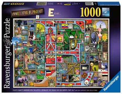 "Ravensburger Colin Thompson - Awesome Alphabet ""E"", 1000pc Jigsaw Puzzle"