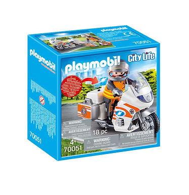 Playmobil 70051 City Life Hospital Emergency Motorbike