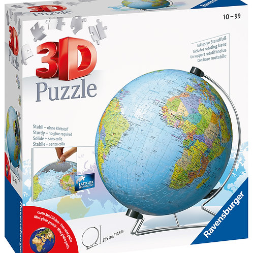 Ravensburger The World on V-Stand 3D Puzzle, 540pc Jigsaw Puzzle