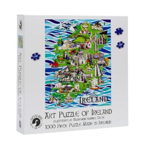 Gosling Games Art Puzzle of Ireland 1000 Piece Puzzle