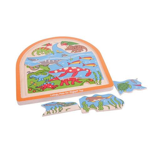 BigJigs Dinosaur Arched Puzzle