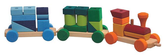 Gluckskafer Colurful Shape Train