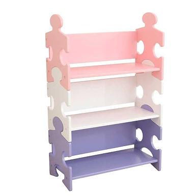 KidKraft Puzzle Bookshelf- Pastel