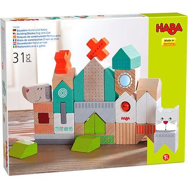 Haba Building Blocks Dog and Cat