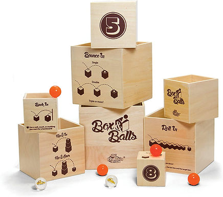 Fat Brain Toys Box 'N Balls - Jumping Balls