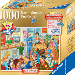 Ravensburger WHAT IF? No. 4  At the Vets  1000pc Jigsaw Puzzle