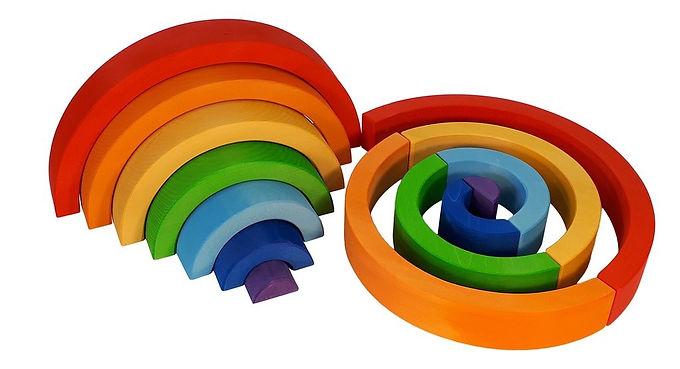 Bauspiel Rainbow Semi-Circle 7 pcs