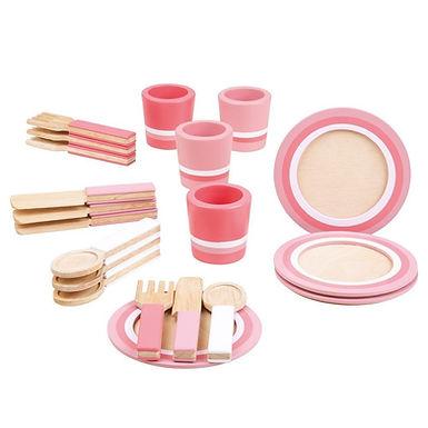 BigJigs Pink Dinner Service