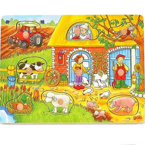 Goki Background Puzzle Farm
