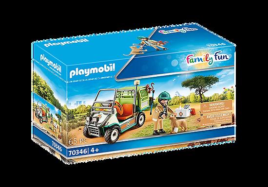 Playmobil 70346 Family Fun Zoo Vet with Medical Cart