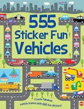 Books - 555 Sticker Fun Vehicles 2ed