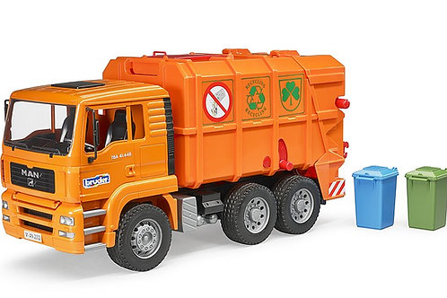 Bruder MAN TGA Orange Refuse Truck
