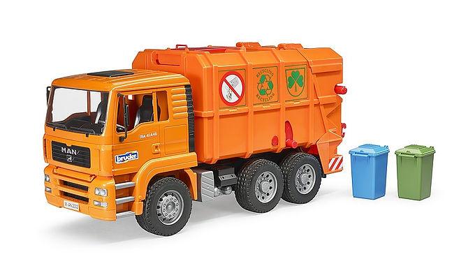 Bruder MAN TGA Orange Refuse Truck