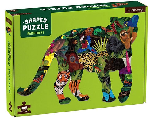 Mudpuppy - Rainforest 300 Piece Shaped Scene Puzzle