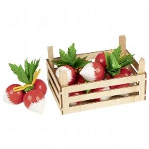 Goki Radishes In Vegetable Crate
