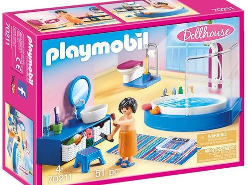 Playmobil 70211 Dollhouse Furnished Bathroom