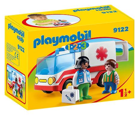Playmobil 1.2.3 9122 Rescue Ambulance