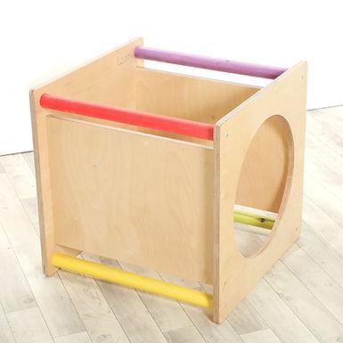 Platform Cube - Sawdust and Rainbows