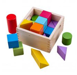 BigJigs Rainbow Building Blocks