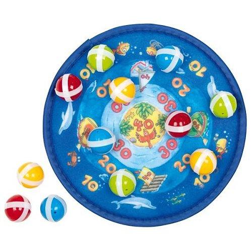 Goki Dart Ball Velcro Game Ocean