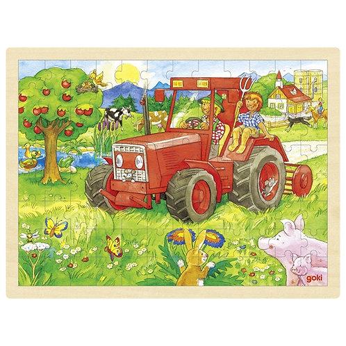 Goki Puzzle Tractor