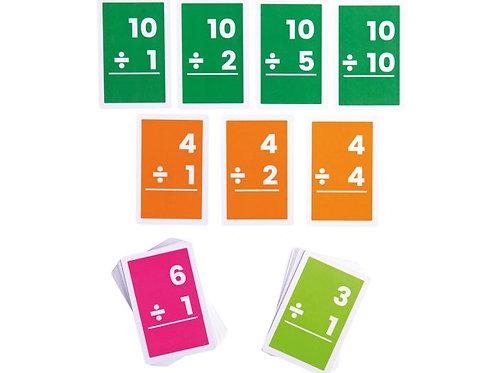 BigJigs Flashcards - Divisions 1-10 (1 Set)