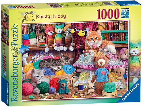 Ravensburger Knitty Kitty, 1000pc Jigsaw Puzzle