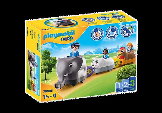 Playmobil 1.2.3 70405 Animal Train