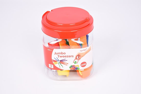 Edx Education Tweezers 12Cm  6 Colour Jar