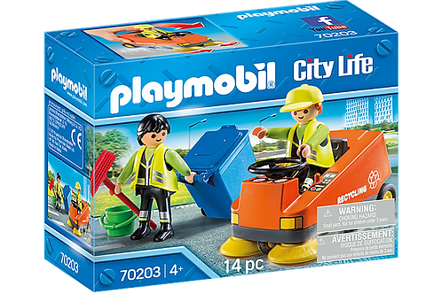 Playmobil 70203 City Life Vehicle World Street Sweeper