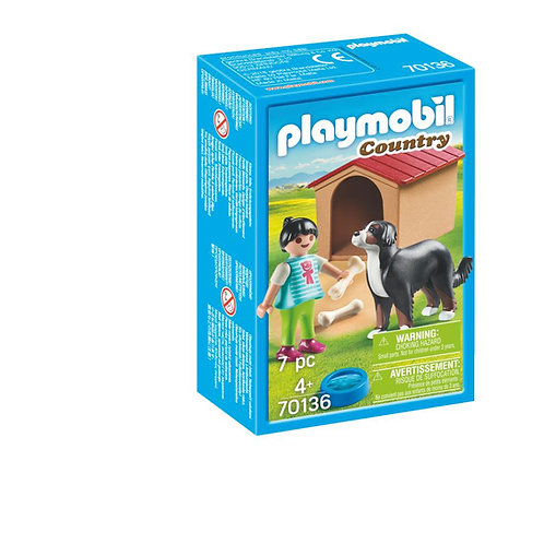 Playmobil 70136 Country Farm Dog with Kennel